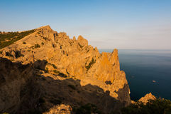Rock in Karadag National park near Koktebel Stock Photography
