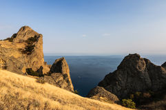 Rock in Karadag National park near Koktebel Stock Photos