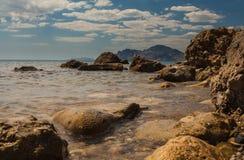 Rock in Karadag National park near Koktebel Royalty Free Stock Photo