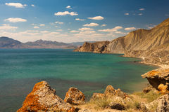Rock in Karadag National park near Koktebel Royalty Free Stock Photography