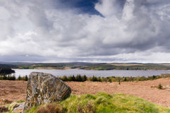 Rock at Kielder water Royalty Free Stock Photos
