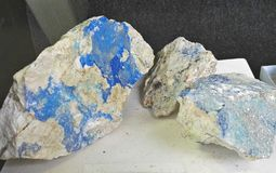 Rock with kinoite tectosilicate. Geological collection in Colombia for geologists. Geologists and soil scientists. Study of soils, minerals and rocks stock photo