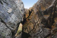 Rock kiss in the Tien Shan Stock Photography