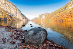 Rock and Konigssee Berchtesgaden,Germany Royalty Free Stock Photo