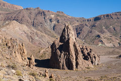 Rock La Catedral and Ucanca plains Royalty Free Stock Photos