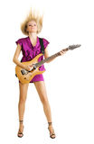 Rock lady Royalty Free Stock Photos
