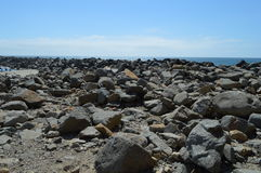 Rock Landscape at Morro Bay California. Rugged, Rock Landscape at Morro Bay, California Royalty Free Stock Photos