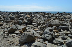 Rock Landscape at Morro Bay California. Rugged, Rock Landscape at Morro Bay, California Stock Photo