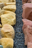 Rock Landscaping. Landscaping with stone in Mexico royalty free stock images