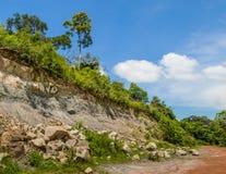 Rock landslide Stock Photo