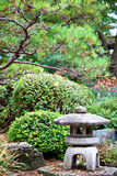 Rock lantern in Japanese zen garden Royalty Free Stock Images