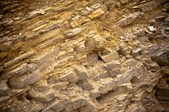 Rock layers Royalty Free Stock Image