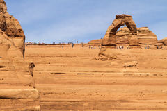 Rock layers at Delicate Arch Stock Photo