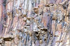Rock layers pattern. Colored background Stock Photography
