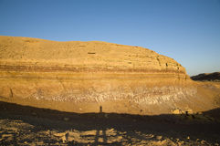 Rock layers in The Ramon Crater Royalty Free Stock Photos
