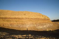 Rock layers in The Ramon Crater Stock Image