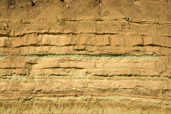 Rock layers in The Ramon Crater Royalty Free Stock Image