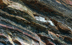 Rock Layers. Layers of Rocks at Kimmeridge Dorset UK Stock Photos