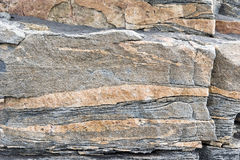 Rock layers. Rock strata with different colors in Greenland Royalty Free Stock Photography