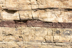 Rock layers Stock Photography