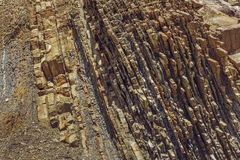 Rock layers texture Royalty Free Stock Images