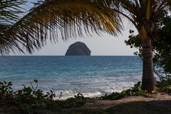 Rock of Le Diamand, Martinique Royalty Free Stock Photos