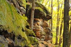 Rock ledge faces Stock Images