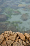 Rock ledge and seawater Royalty Free Stock Photography