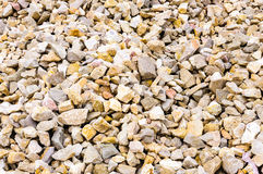 Rock limestone pile background texture Stock Photography
