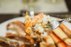 Rock Lobster meat. Grilled with  ingredient without the shell Royalty Free Stock Photos