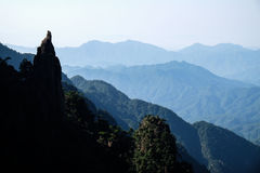Rock looks like taoist priest at Sanqingshan Mountains Royalty Free Stock Photography