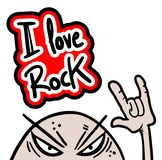 Rock love Stock Photo