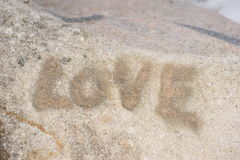 Rock and Love Royalty Free Stock Images