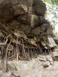 Rock at Mae Sa Waterfall, Thailand Royalty Free Stock Photography