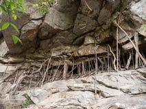 Rock at Mae Sa Waterfall, Thailand Royalty Free Stock Photos