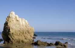 Rock on the Malibu beach. Nice rock on one of the most beautiful and popular beaches of Malibu - El Matador Beach Stock Photography