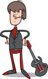 Rock man with guitar cartoon Royalty Free Stock Photo