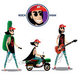 Rock man set Royalty Free Stock Photography