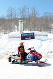 Rock Maple Racing snowmobile races Royalty Free Stock Photography