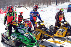 Rock Maple Racing snowmobile races Royalty Free Stock Image