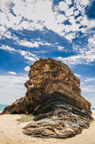 Rock at Marang Beach Stock Image