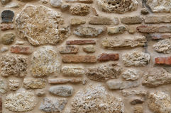 Rock and marble wall texture background. stains and bricks Stock Photo