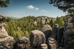 The rock mass in the Czech natural paradise Royalty Free Stock Images