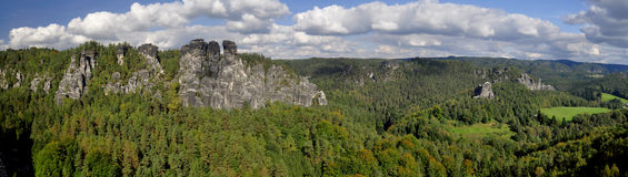 Rock massif Bastei Stock Image