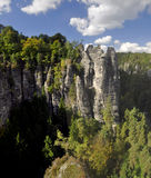 Rock massif Bastei Royalty Free Stock Images
