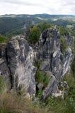 Rock massif Bastei Stock Photos