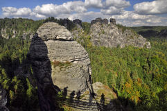 Rock massif Bastei Royalty Free Stock Image