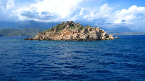 The rock in Mediterranean Sea Royalty Free Stock Image