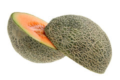 Rock Melon Cut in Half Royalty Free Stock Photo