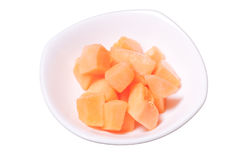 Rock Melon peices Stock Photography